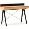Biurko BASIC+ LUXURY WOOD blat BUK stelaż BUK BLACK