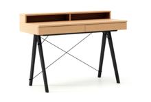 Biurko BASIC+ LUXURY WOOD blat BUK stelaż BUK BLACK  Minimalistyczne biurko z dwoma szufladami i wygodną nadstawką na drobiazgi. Wykonane ręcznie z...