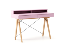 Biurko BASIC+ LUXURY COLORS stelaż BUK (standard)  Minimalistyczne biurko z dwoma szufladami i wygodną nadstawką na drobiazgi. Wykonane ręcznie z litego...