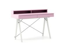 Biurko BASIC+ LUXURY COLORS stelaż BUK WHITE  Minimalistyczne biurko z dwoma szufladami i wygodną nadstawką na drobiazgi. Wykonane ręcznie z litego...