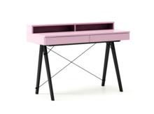 Biurko BASIC+ LUXURY COLORS stelaż BUK BLACK  Minimalistyczne biurko z dwoma szufladami i wygodną nadstawką na drobiazgi. Wykonane ręcznie z litego...
