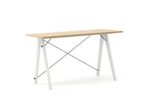 Biurko SLIM LUXURY WOOD blat DĄB stelaż BUK WHITE  Minimalistyczne biurko w formie stolika z wygodną nadstawką na drobiazgi. Wykonane ręcznie z litego...