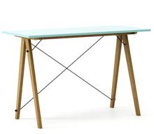 Biurko SLIM LUXURY COLORS stelaż DĄB  Minimalistyczne biurko w formie stolika z wygodną nadstawką na drobiazgi. Wykonane ręcznie z litego drewna i...
