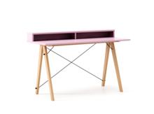 Biurko SLIM+ LUXURY COLORS stelaż BUK (standard)  Minimalistyczne biurko w formie stolika z wygodną nadstawką na drobiazgi. Wykonane ręcznie z litego...