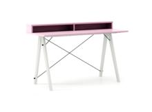 Biurko SLIM+ LUXURY COLORS stelaż BUK WHITE  Minimalistyczne biurko w formie stolika z wygodną nadstawką na drobiazgi. Wykonane ręcznie z litego drewna...
