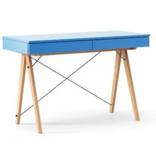 Biurko BASIC KIDS LUXURY COLORS stelaż BUK (standard)  Minimalistyczne biurko z dwoma szufladami i wygodną nadstawką na drobiazgi. Wykonane ręcznie z...