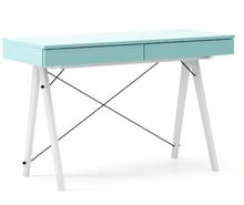 Biurko BASIC KIDS LUXURY COLORS stelaż BUK WHITE  Minimalistyczne biurko z dwoma szufladami i wygodną nadstawką na drobiazgi. Wykonane ręcznie z litego...
