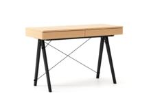 Minimalistyczne biurko z dwoma dyskretnymi szufladami, tutaj w wersji LUXURY. Dostępne w szerokiej gamie naturalnych fornirów, także w konfiguracji ze...