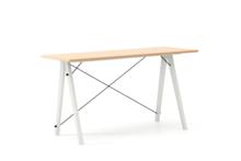 Biurko SLIM KIDS LUXURY WOOD blat BUK stelaż BUK WHITE  Minimalistyczne biurko w formie stolika z wygodną nadstawką na drobiazgi. Wykonane ręcznie z...