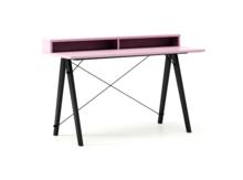 Biurko SLIM KIDS+ LUXURY COLORS stelaż BUK BLACK  Minimalistyczne biurko w formie stolika z wygodną nadstawką na drobiazgi. Wykonane ręcznie z litego...