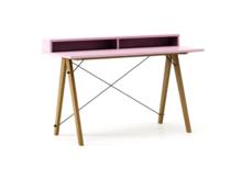Biurko SLIM KIDS+ LUXURY COLORS stelaż DĄB  Minimalistyczne biurko w formie stolika z wygodną nadstawką na drobiazgi. Wykonane ręcznie z litego drewna...