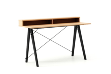 Biurko SLIM KIDS+ LUXURY WOOD blat BUK stelaż BUK BLACK