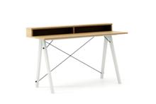 Biurko SLIM KIDS+ LUXURY WOOD blat DĄB stelaż BUK WHITE  Minimalistyczne biurko w formie stolika z wygodną nadstawką na drobiazgi. Wykonane ręcznie z...