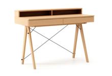 Biurko BASIC KIDS+ LUXURY WOOD blat BUK stelaż BUK (standard)  Minimalistyczne biurko z dwoma szufladami i wygodną nadstawką na drobiazgi. Wykonane...