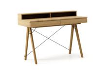 Biurko BASIC KIDS+ LUXURY WOOD blat DĄB stelaż DĄB  Minimalistyczne biurko z dwoma szufladami i wygodną nadstawką na drobiazgi. Wykonane ręcznie z...