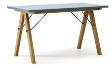 Stół BASIC LUXURY 140x70 - stelaż DĄB