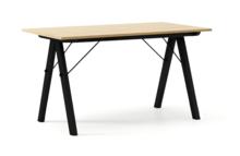 STÓŁ BASIC LUXURY WOOD blat DĄB stelaż BUK BLACK  Minimalistyczny stół w duchu SCANDI, idealny do jadalni lub kuchni. Wykonany ręcznie z litego...