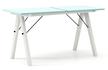 Stół rozkładany BASIC LUXURY - stelaż WHITE