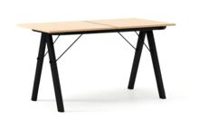 STÓŁ BASIC ROZKŁADANY LUXURY WOOD blat BUK stelaż BUK BLACK  Minimalistyczny stół w duchu SCANDI, idealny do jadalni lub kuchni. Opcja rozkładania...