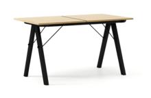 STÓŁ BASIC ROZKŁADANY LUXURY WOOD blat DĄB stelaż BUK BLACK  Minimalistyczny stół w duchu SCANDI, idealny do jadalni lub kuchni. Opcja rozkładania...
