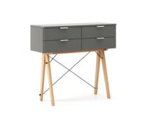 KONSOLA MAXI kolor GREY stelaż BUK (standard)  Wielofunkcyjna konsola do hallu lub salonu. Idealnie posłuży jako stolik do odłożenia drobiazgów lub...