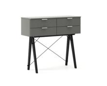 KONSOLA MAXI kolor GREY stelaż BUK BLACK  Wielofunkcyjna konsola do hallu lub salonu. Idealnie posłuży jako stolik do odłożenia drobiazgów lub...