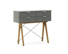 KONSOLA MAXI kolor GREY stelaż DĄB  Wielofunkcyjna konsola do hallu lub salonu. Idealnie posłuży jako stolik do odłożenia drobiazgów lub wyeksponuje...