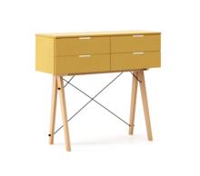 KONSOLA MAXI kolor LIGHT MUSTARD stelaż BUK (standard)  Wielofunkcyjna konsola do hallu lub salonu. Idealnie posłuży jako stolik do odłożenia...