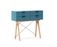 KONSOLA MAXI kolor OCEANIC stelaż BUK (standard)  Wielofunkcyjna konsola do hallu lub salonu. Idealnie posłuży jako stolik do odłożenia drobiazgów lub...