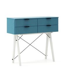 KONSOLA MAXI kolor OCEANIC stelaż BUK WHITE  Wielofunkcyjna konsola do hallu lub salonu. Idealnie posłuży jako stolik do odłożenia drobiazgów lub...