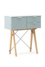 KONSOLA MIDI kolor ICE BLUE stelaż BUK (standard)  Wielofunkcyjna konsola do hallu lub salonu. Idealnie posłuży jako stolik do odłożenia drobiazgów...