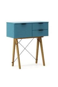 KONSOLA MIDI kolor OCEANIC stelaż DĄB  Wielofunkcyjna konsola do hallu lub salonu. Idealnie posłuży jako stolik do odłożenia drobiazgów lub...