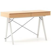 Toaletka Basic Luxury Wood blat BUK stelaż BUK WHITE