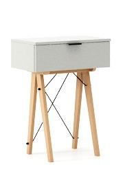 KONSOLA MINI kolor LIGHT GREY stelaż BUK (standard)  Wielofunkcyjna MINI konsola do hallu lub salonu. Idealnie posłuży jako stolik do odłożenia...