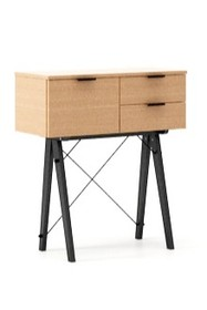 KONSOLA MIDI LUXURY WOOD blat BUK stelaż BUK BLACK