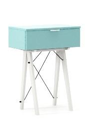 KONSOLA MINI LUXURY COLORS stelaż BUK WHITE  Wielofunkcyjna MINI konsola do hallu lub salonu. Idealnie posłuży jako stolik do odłożenia drobiazgów lub...