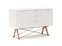 BUFET MAXI kolor WHITE stelaż BUK (standard)  Duży i praktyczny bufet w stylu VINTAGE. Idealnie posłuży jako pomocnik w jadalni lub salonie. Pięknie...