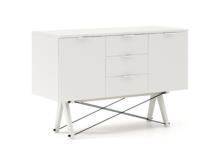 BUFET MAXI kolor WHITE stelaż BUK WHITE  Duży i praktyczny bufet w stylu VINTAGE. Idealnie posłuży jako pomocnik w jadalni lub salonie. Pięknie...