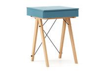 Toaletka MINI kolor OCEANIC stelaż BUK (standard)  Minimalistyczne mini-biurko z funkcją toaletki. Pod klapą kryje się aksamitna szkatułka i duże...
