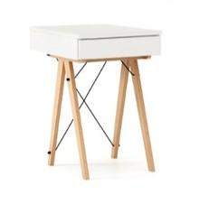 Toaletka MINI kolor WHITE stelaż BUK (standard)  Minimalistyczne mini-biurko z funkcją toaletki. Pod klapą kryje się aksamitna szkatułka i duże...
