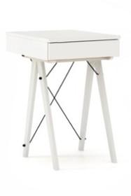 Toaletka MINI kolor WHITE stelaż BUK WHITE  Minimalistyczne mini-biurko z funkcją toaletki. Pod klapą kryje się aksamitna szkatułka i duże lustro....