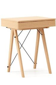 Minimalistyczne mini-biurko z funkcją toaletki. Pod klapą kryje się aksamitna szkatułka i duże lustro.  Tutaj wersja LUXURY. Dostępna w szerokiej...