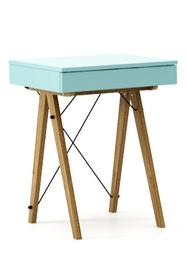 Minimalistyczne mini-biurko z funkcją toaletki. Pod klapą kryje się aksamitna szkatułka i duże lustro.  Tutaj wersja LUXURY. Dostępna w bardzo...