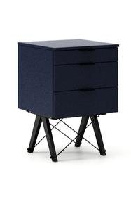 KONTENER BASIC kolor NAVY stelaż BUK BLACK  Praktyczny kontener jako pomocnik do biurka, lub samodzielna szafka z szufladami. Wykonany ręcznie z litego...