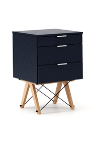 KONTENER BASIC kolor NAVY stelaż BUK (standard)  Praktyczny kontener jako pomocnik do biurka, lub samodzielna szafka z szufladami. Wykonany ręcznie z...