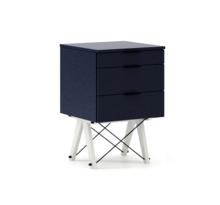 KONTENER BASIC kolor NAVY stelaż BUK WHITE  Praktyczny kontener jako pomocnik do biurka, lub samodzielna szafka z szufladami. Wykonany ręcznie z litego...
