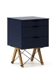 KONTENER BASIC kolor NAVY stelaż DĄB  Praktyczny kontener jako pomocnik do biurka, lub samodzielna szafka z szufladami. Wykonany ręcznie z litego drewna...