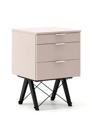 KONTENER BASIC kolor DUSTY PINK stelaż BUK BLACK  Praktyczny kontener jako pomocnik do biurka, lub samodzielna szafka z szufladami. Wykonany ręcznie z...