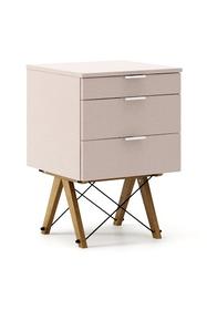 KONTENER BASIC kolor DUSTY PINK stelaż DĄB  Praktyczny kontener jako pomocnik do biurka, lub samodzielna szafka z szufladami. Wykonany ręcznie z litego...