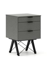 KONTENER BASIC kolor GREY stelaż BUK BLACK  Praktyczny kontener jako pomocnik do biurka, lub samodzielna szafka z szufladami. Wykonany ręcznie z litego...